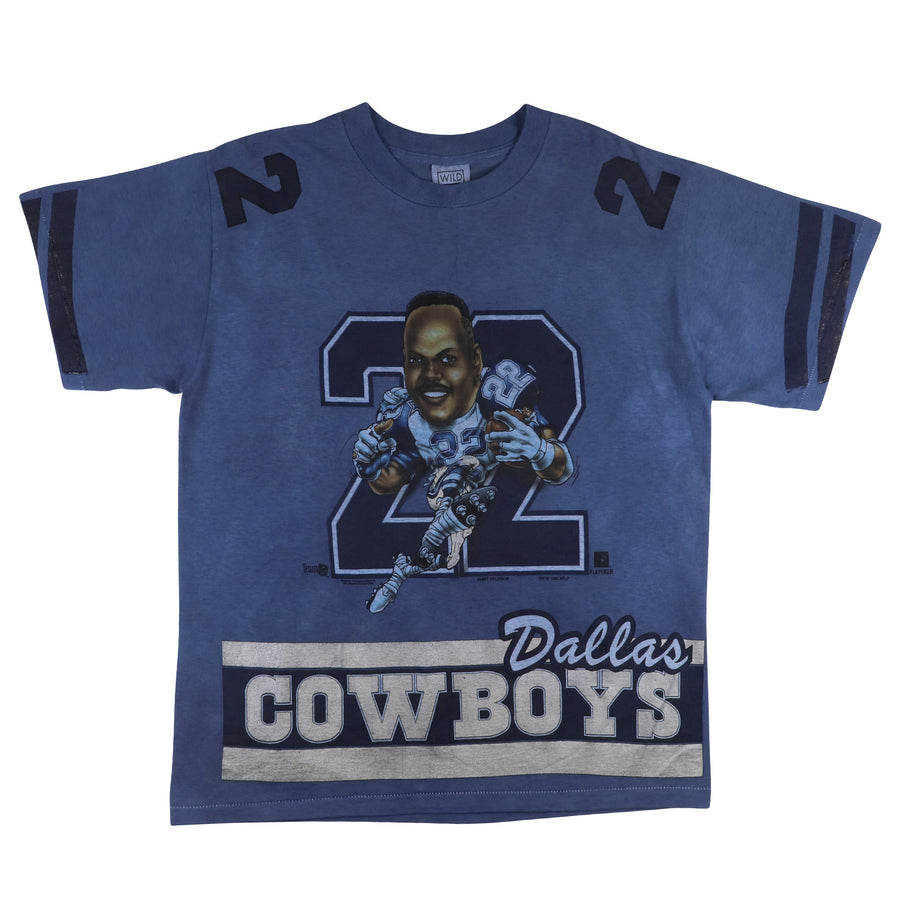 1995 Dallas Cowboys Emmitt Smith Big Head Over Dyed T-Shirt L