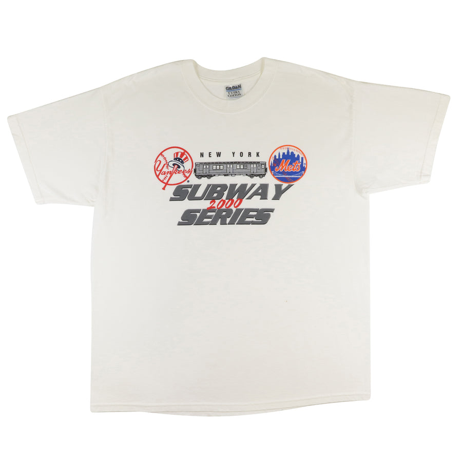 2000 New York Yankees vs New York Mets Subway Series T-Shirt XL