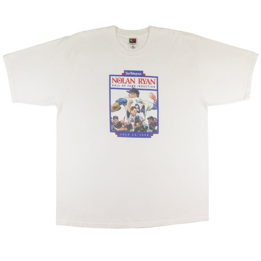 1999 Texas Rangers Nolan Ryan Hall Of Fame Induction Star T-Shirt XL