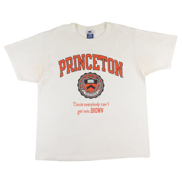 1990s Princeton Tigers 'Cause Everybody Can't Get Into Brown' T-Shirt L