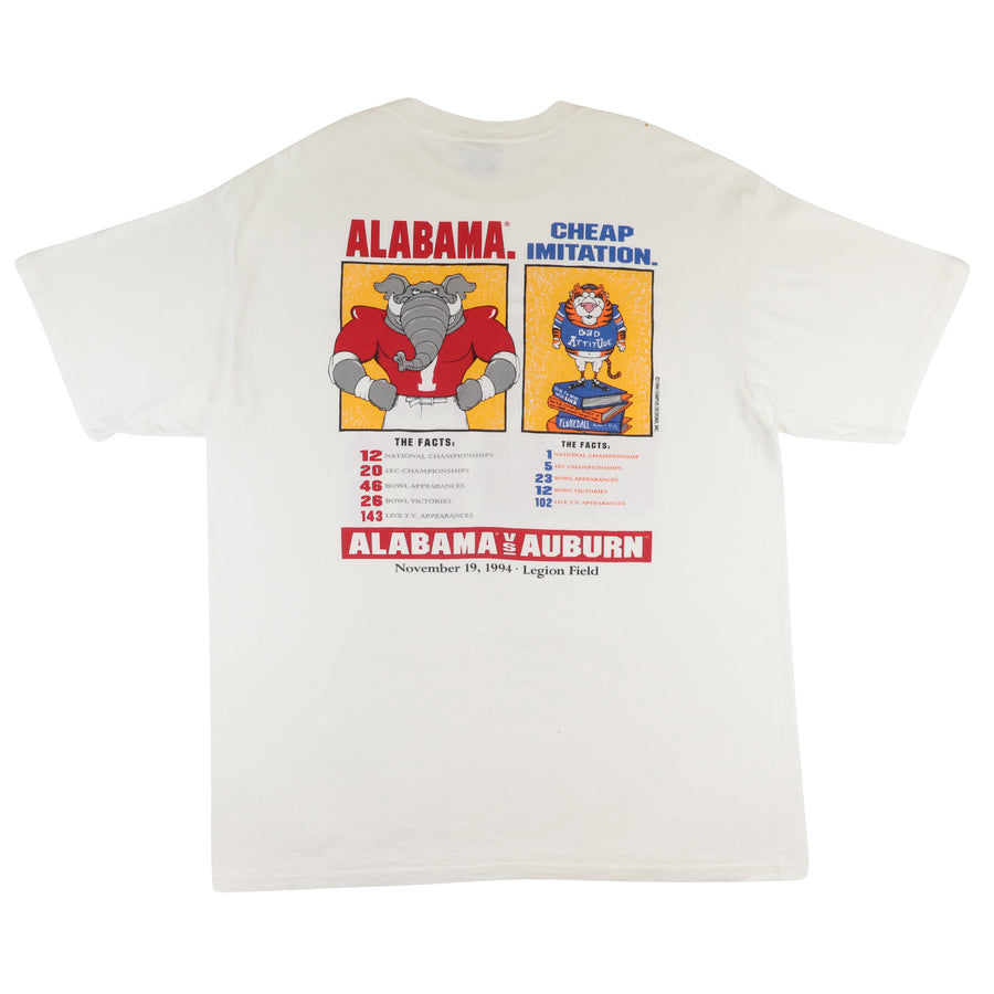 1994 Alabama Crimson Tide 'Auburn... Alabama Wanna-be's' Parking Lot T-Shirt XL
