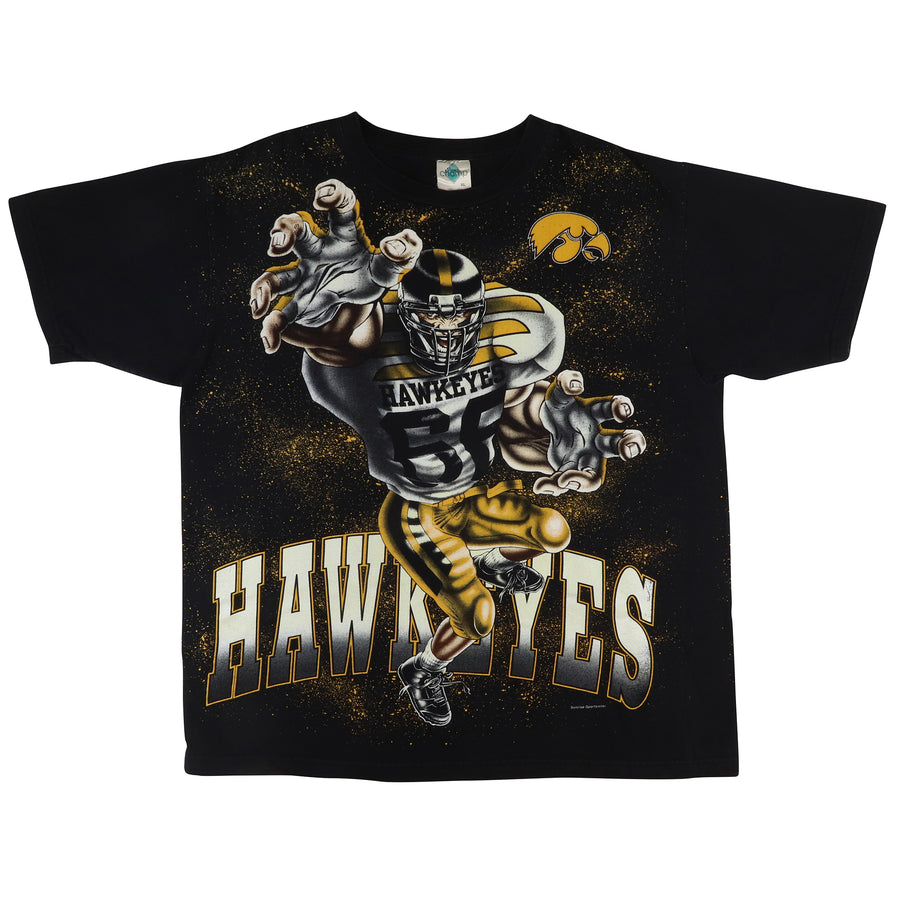 1990s Iowa Haweyes Double Sided Big Print T-Shirt XL