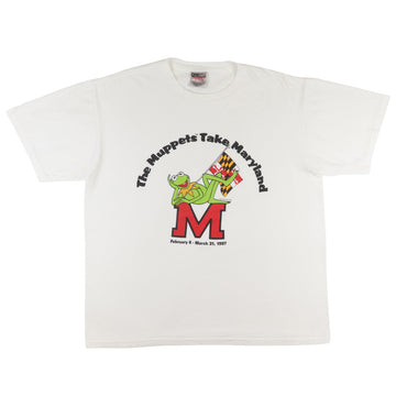 1997 Maryland Terrapins 'The Muppets Take Maryland' Kermit The Frog T-Shirt L