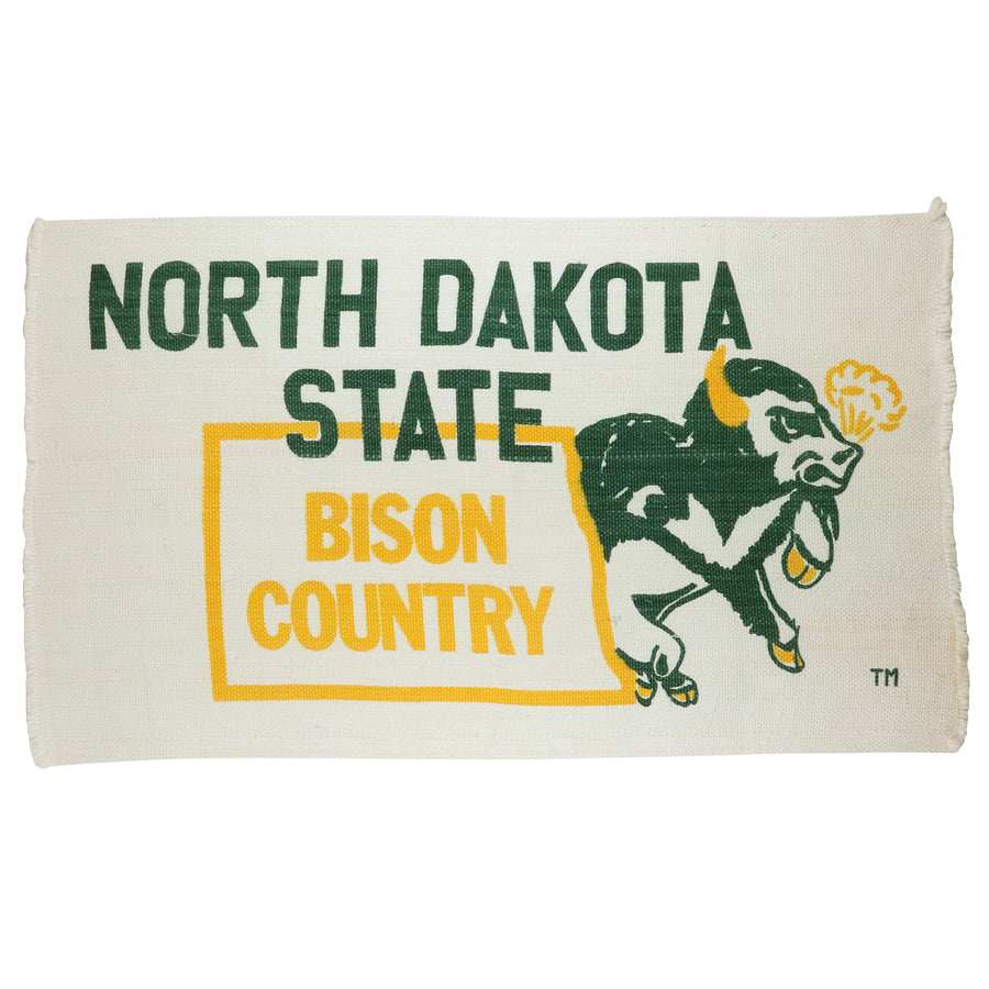 1980s North Dakota State 'Bison Country' Woven Wall Hanging Rug