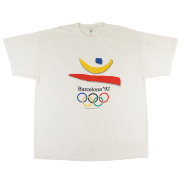 1992 Barcelona Summer Olympics Rings T-Shirt XL
