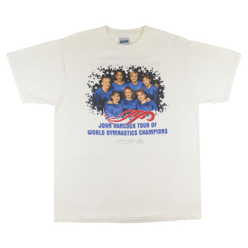 1997 John Hancock Tour Of World Gymnastics Team USA T-Shirt  L
