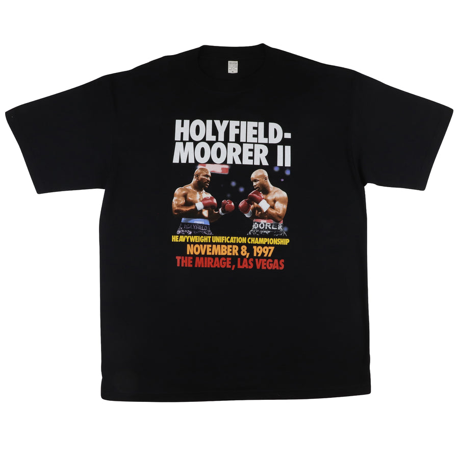 1997 Evander Holyfield vs Michael Moorer 2 Heavyweight Championship T-Shirt XL
