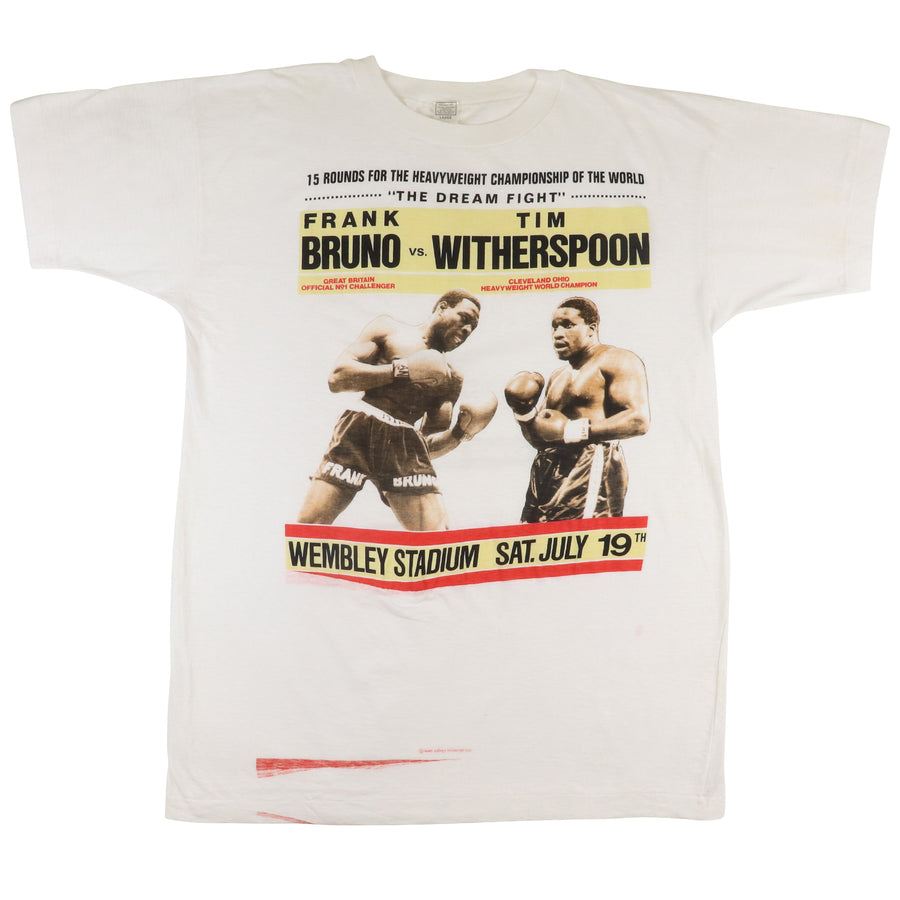 1986 Frank Bruno vs Tim Witherspoon Wembley Stadium Parking Lot T-Shirt L