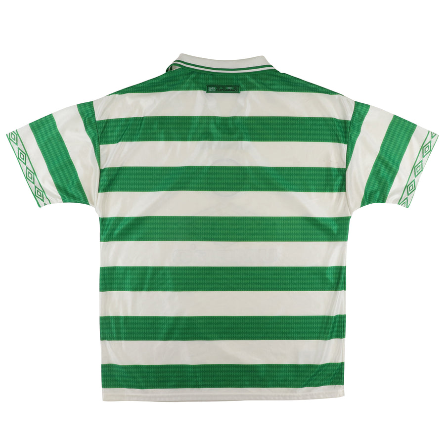 1997 Celtic 'The Hoops' Scottish League Soccer Jersey M