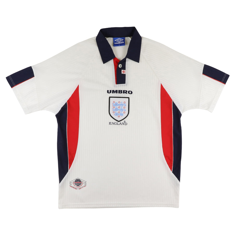1997 England National Team Collared Soccer Jersey M