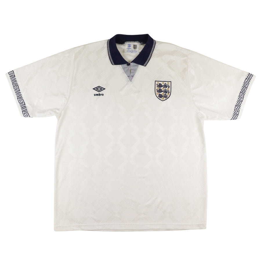 1990 England National Team 'World Cup 90' Soccer Jersey XL
