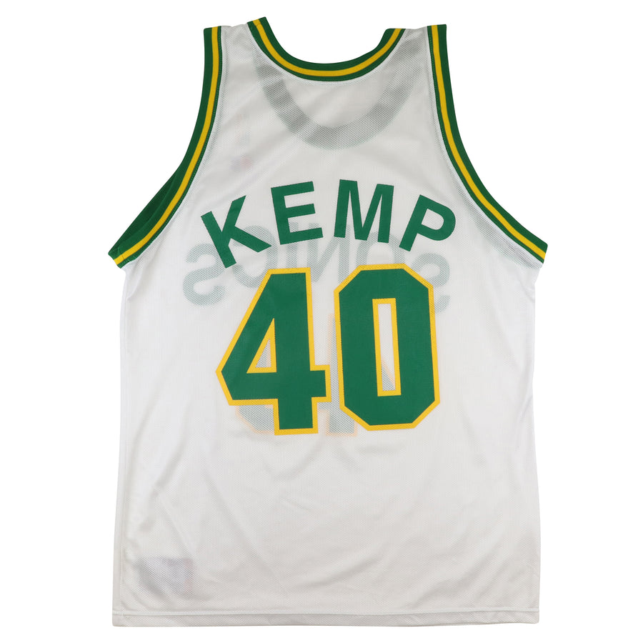 1990s Champion Seattle Supersonics Shawn Kemp Jersey 44