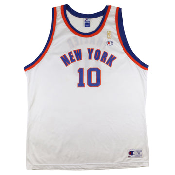 1997 Champion New York Knicks 'Turn Back The Clock' Walt Frazier Jersey 52