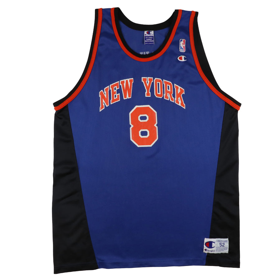 1990s Champion New York Knicks Latrell Sprewell Jersey 52