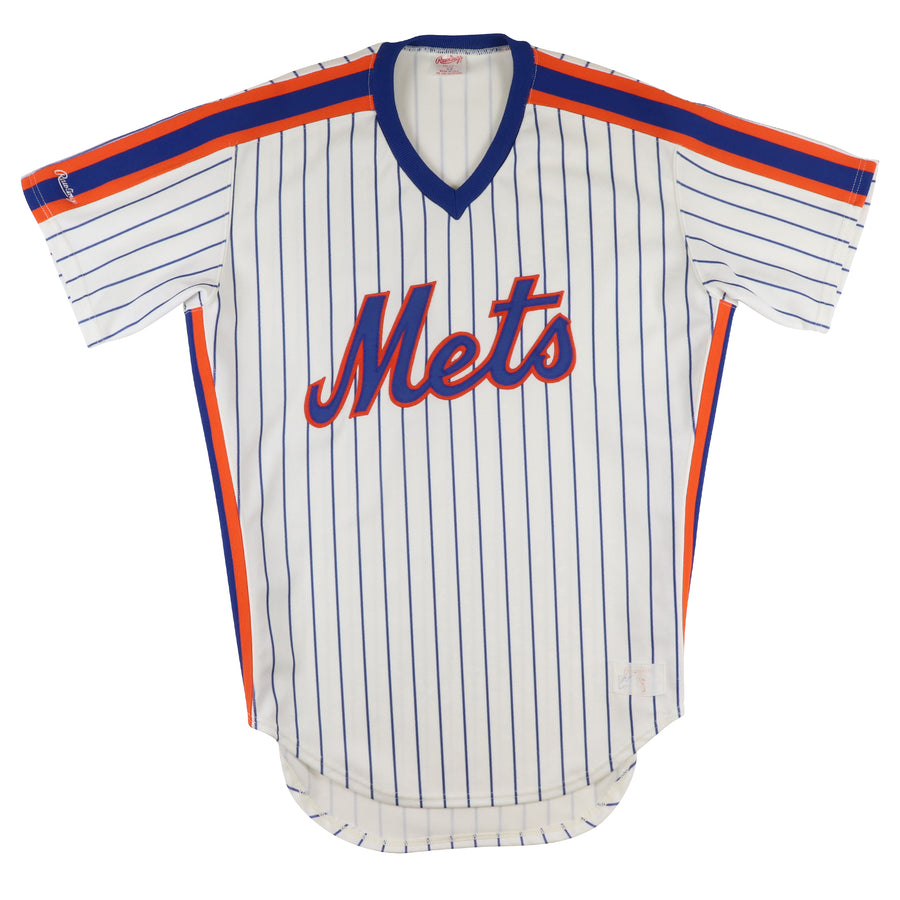1980s Rawlings Authentic New York Mets Pullover Jersey 42