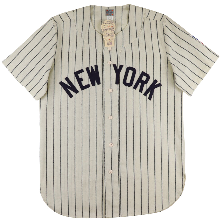 2000s Ebbets Field New York Black Yankees 1942 Style Satchel Paige Flannel Jersey M