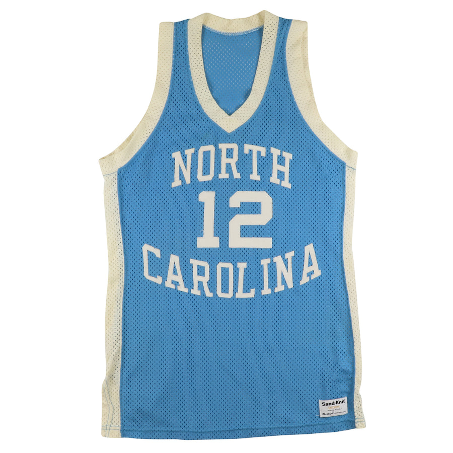 1980s Sand Knit Authentic North Carolina Tar Heels Phil Ford Commemorative Jersey M