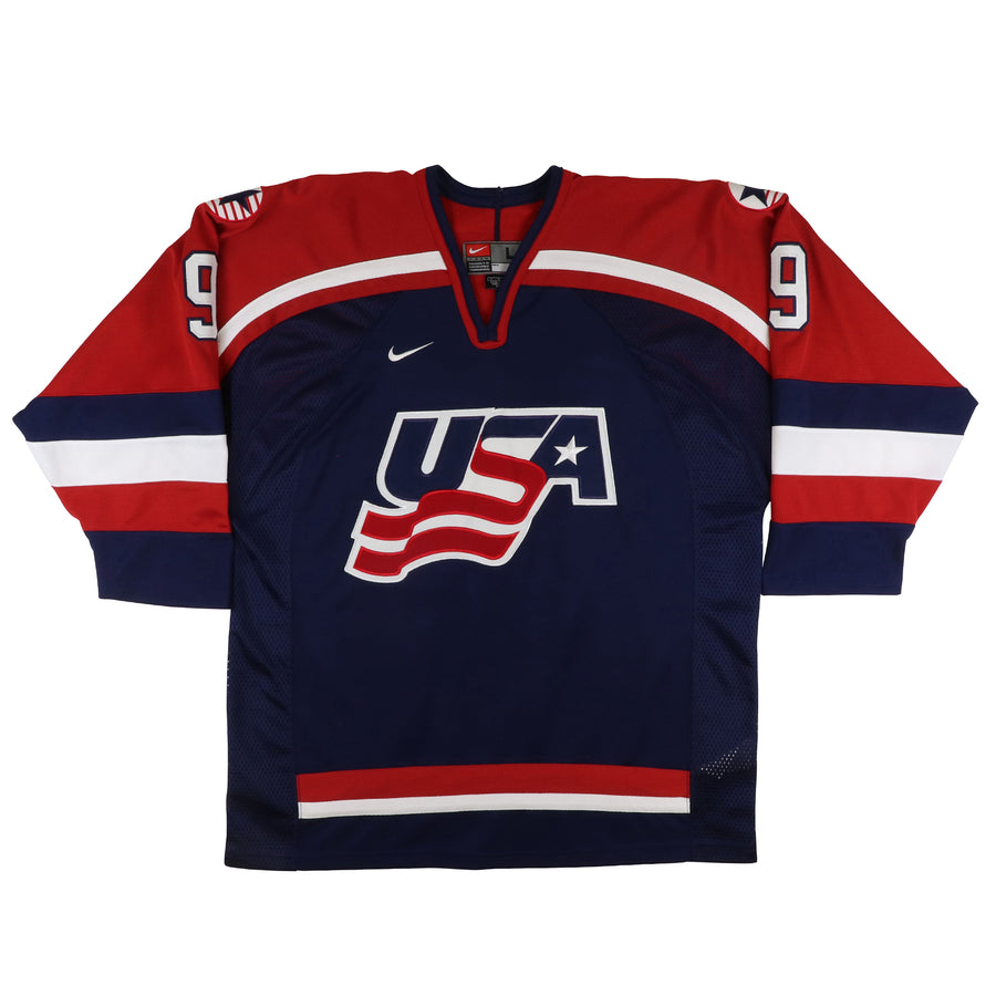 2002 Nike Team USA Hockey Olympics Mike Modano Jersey L