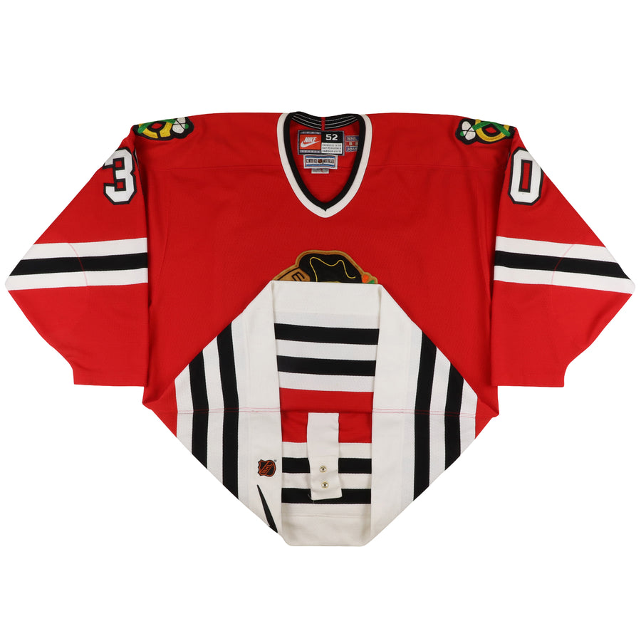 1997 Nike Authentic Chicago Blackhawks Ed Belfour Jersey 52