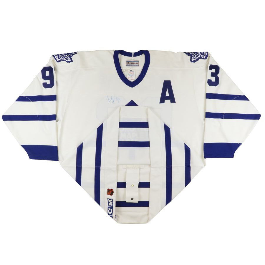 1993 CCM Authentic Toronto Maple Leafs Doug Gilmour Signed Jersey 52