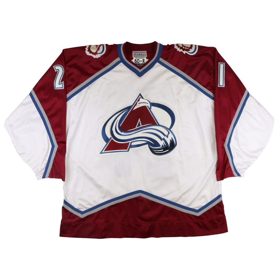 1997 Starter Authentic Colorado Avalanche Peter Forsberg Jersey 60