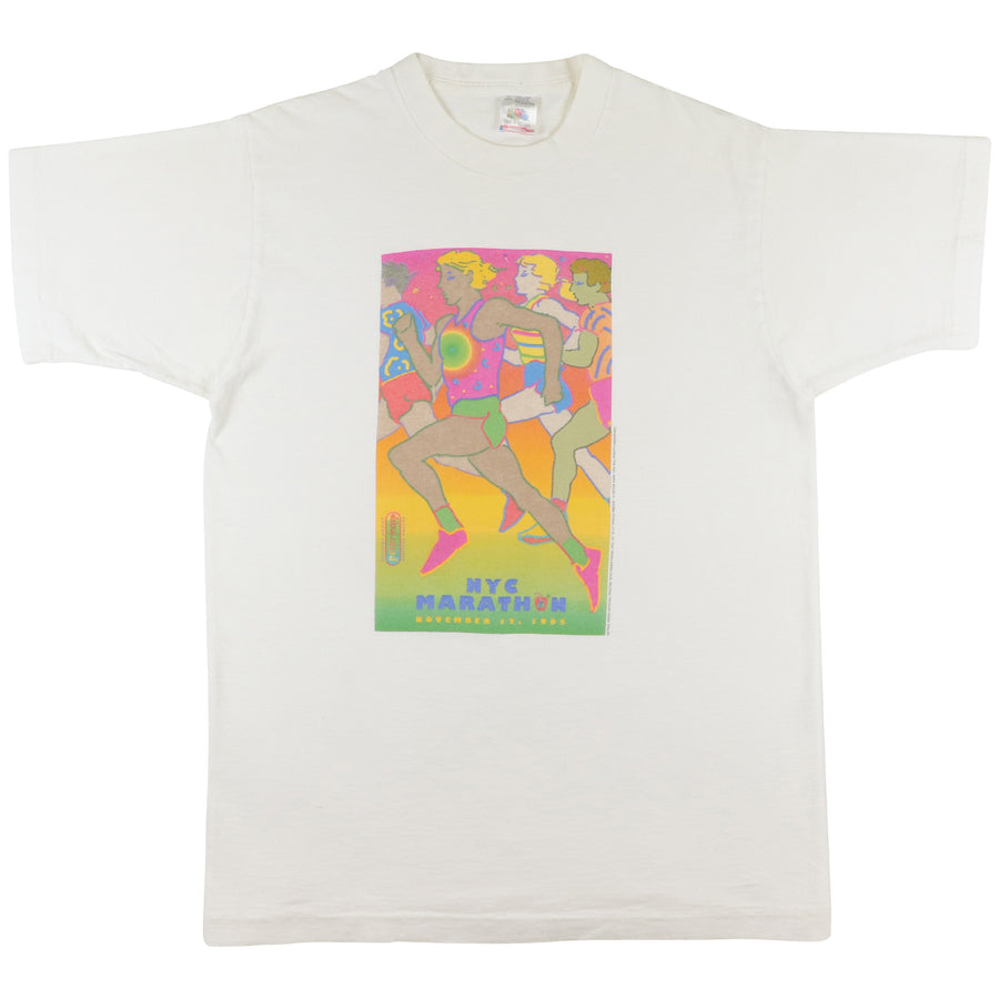 1995 New York City Marathon Peter Max Art Running T-Shirt M