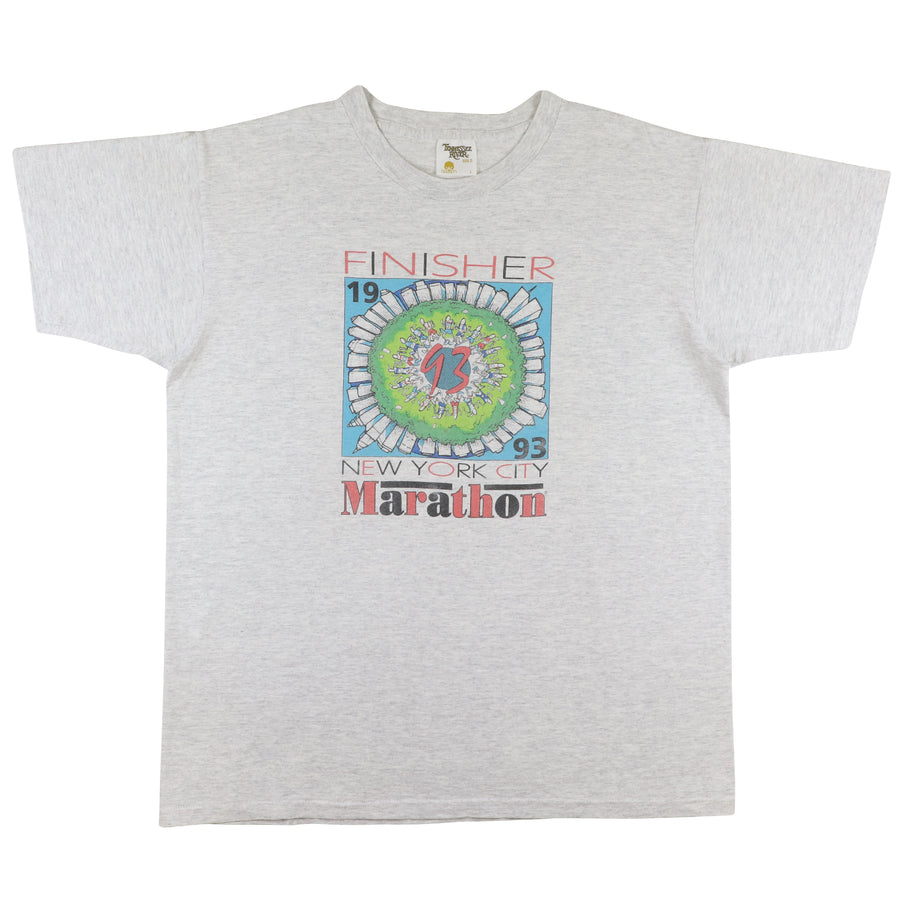 1993 New York City Finisher Marathon Running T-Shirt L