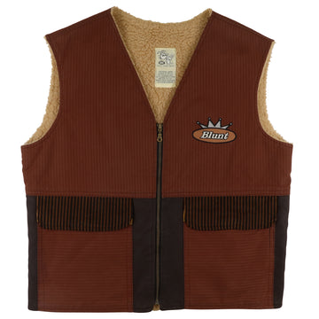1990s Blunt Official Licensed Threadz Corduroy Sherpa Lined Vest 2XL