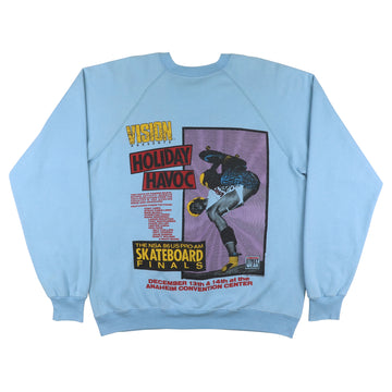 1986 Vision Street Wear Holiday Havoc NSA Pro AM Sweatshirt L