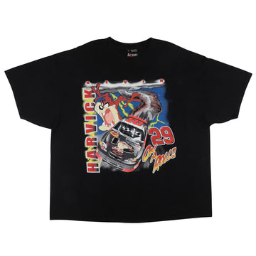 2000s Nascar Kevin Havrick Taz Looney Tunes On A Roll Racing T-Shirt 2XL