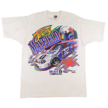1998 Nascar Mobil 1 Racing Jeremy Mayfield Double Sided Print T-Shirt XL