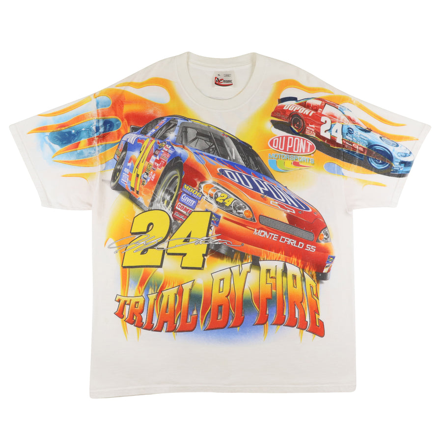 2000s Nascar Jeff Gordon Trial By Fire Mega Print Double Sided Racing T-Shirt XL