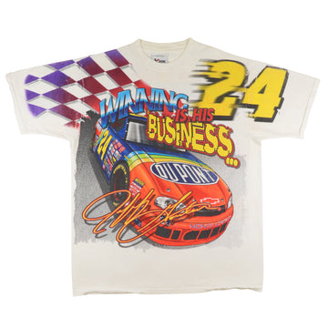 1999 Nascar Jeff Gordon Winning Is His Business Mega Print Racing T-Shirt XL