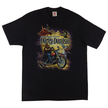 1987 Harley Davidson 'On The Eighth Day God Created...' Motorcycle T-Shirt XL