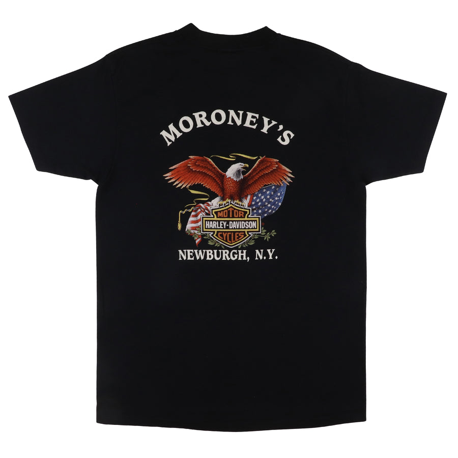 1991 Harley Davidson 3D Emblem 'I Ride With Pride' Biker Motorcycle T-Shirt L