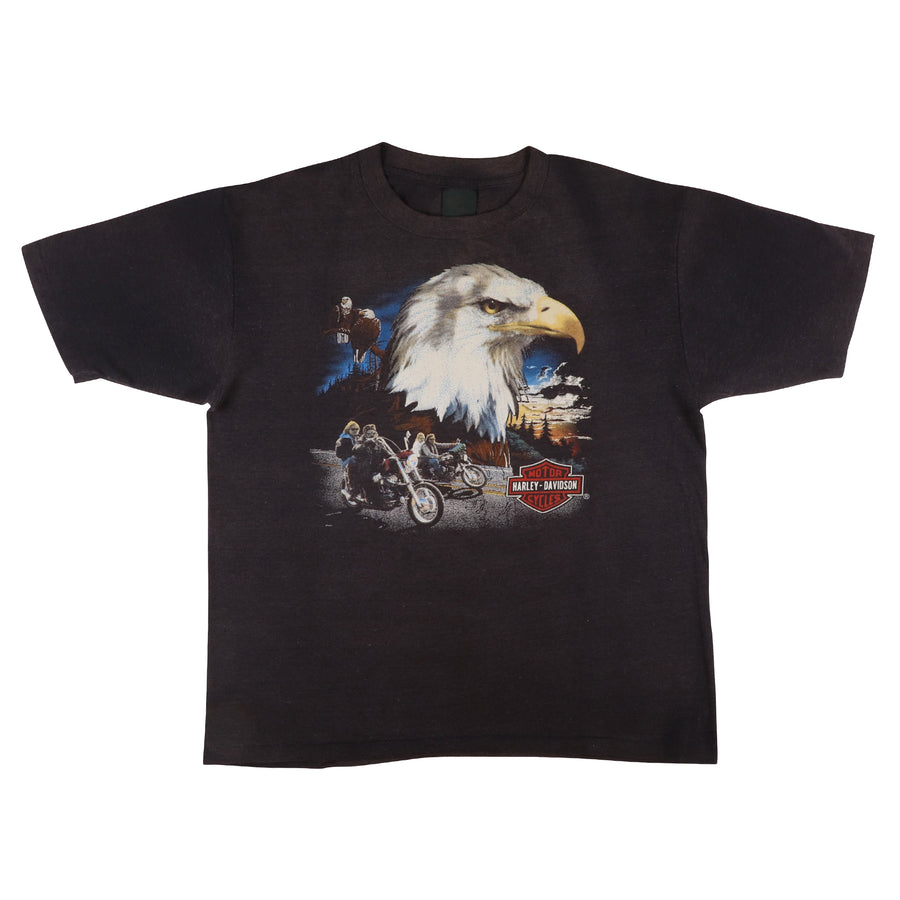 1980s Harley Davidson Bald Eagle Baltimore Maryland Dealership Motorcycle T-Shirt L