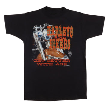 1985 Harley Davidson 'Harley And Bikers Get Better With Age'  Maryland Dealership T-Shirt M