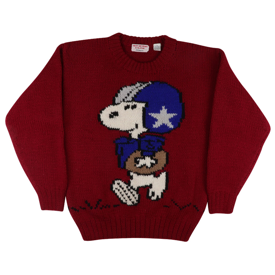 1990s Snoopy & Friends Bill Ditfort 'Schulz' Knit Sweater M