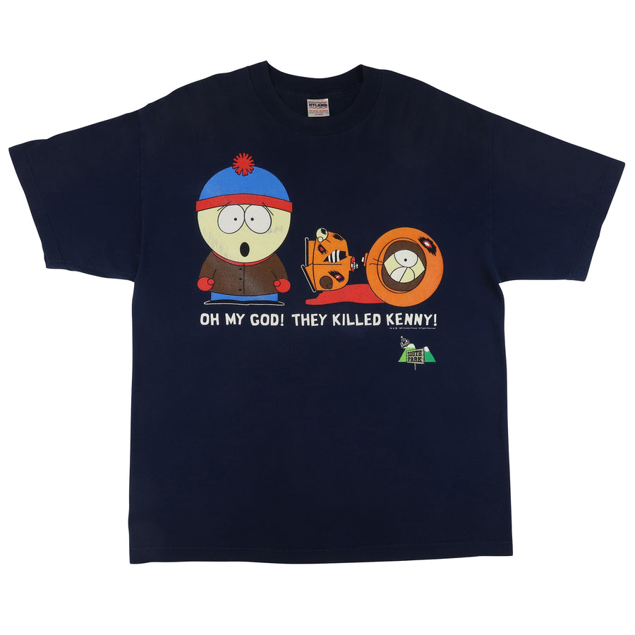 1997 South Park 'Oh My God, They Killed Kenny' T-Shirt XL