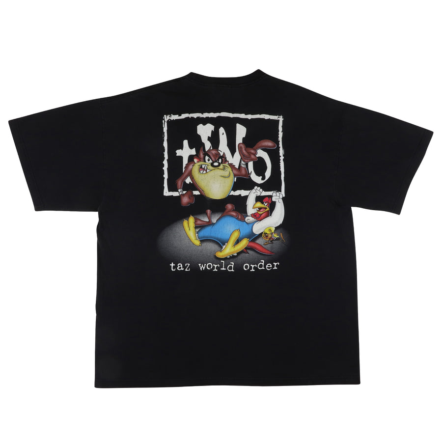 1998 Looney Tunes Taz World Order NWO Parody Wrestling T-Shirt XL