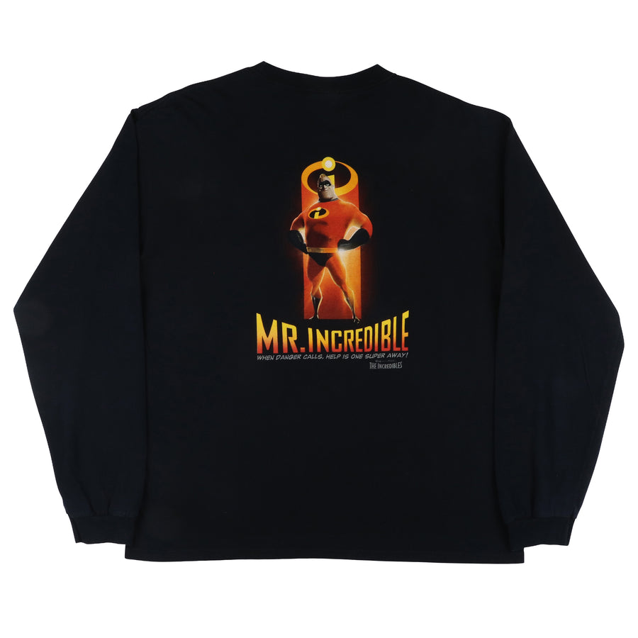 2004 Disney The Incredibles Mr. Incredible Long Sleeve Shirt XL