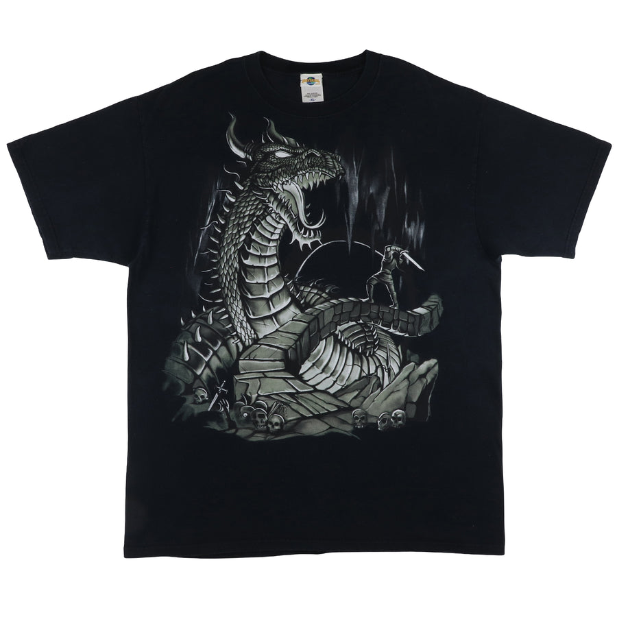 2000s Universal Studios Dueling Dragons Island Of Adventure T-Shirt XL