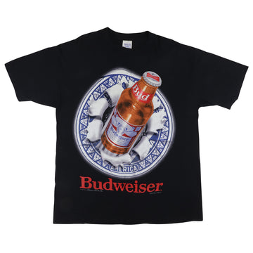 1993 Budweiser Double Sided Beer Bottle T-Shirt XL