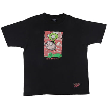2001 Nickelodeon Invader Zim Ride The Pig T-Shirt XL