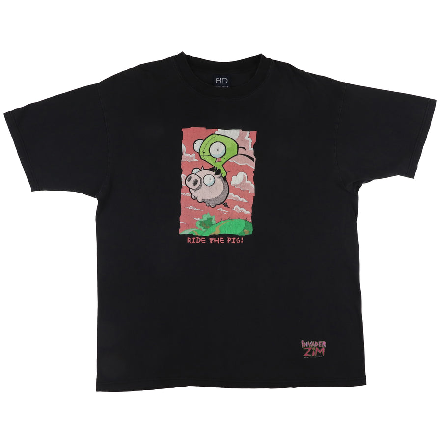 2001 Invader Zim 'Ride The Pig' Nickelodeon Cartoon T-Shirt XL