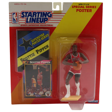 1992 Starting Lineup With Special Series Poster Chicago Bulls Scottie Pippen Figure