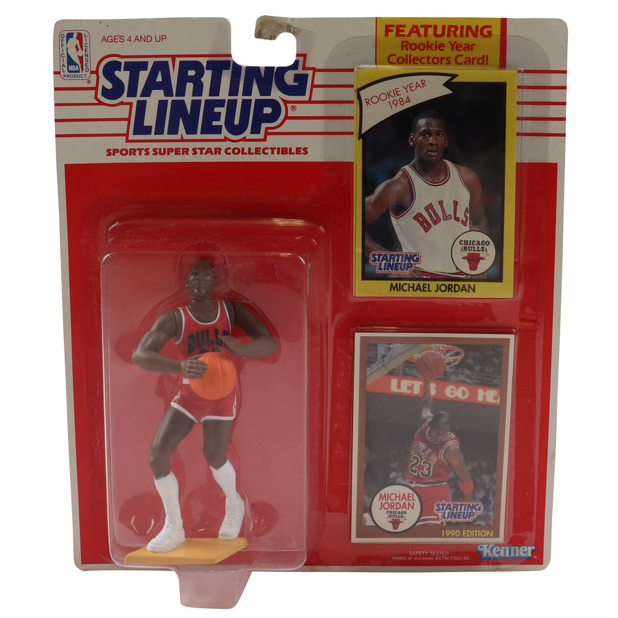 1990 Starting Lineup With Rookie Card Chicago Bulls Michael Jordan Figure