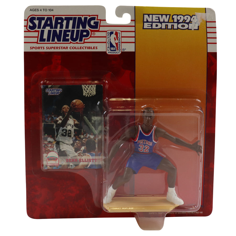 1994 Starting Lineup Detroit Pistons Sean Elliott Figure