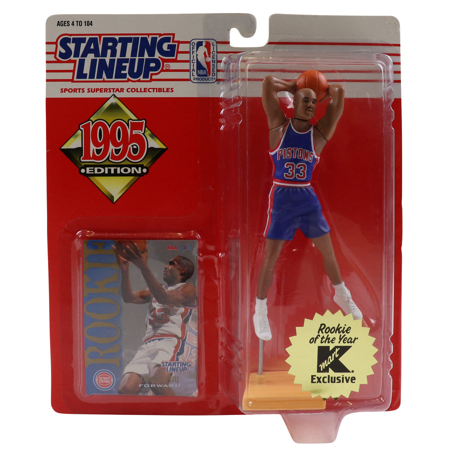 1995 Starting Lineup With Rookie Card Detroit Pistons Grant Hill Figure