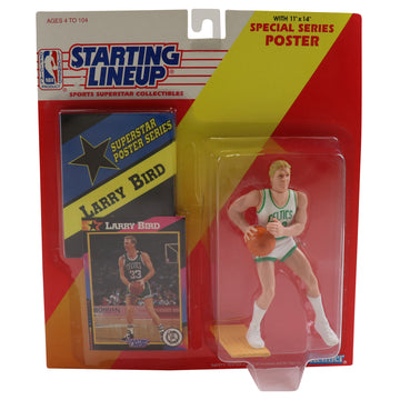 1992 Starting Lineup With Special Series Poster Boston Celtics Larry Bird Figure